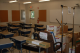 Teachers Readying New Portable Classrooms