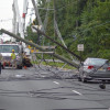 Updated: Tractor Trailer Snags Utility Wires, Snaps Poles, Causes Massive Easton Avenue Traffic Snarl