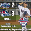 Blue Crabs Take Game 1 Of Championship Series 7-3 Over Patriots