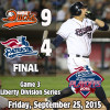 Ducks Take 2-1 Liberty Division Series Lead Over Patriots