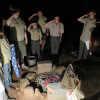Boy Scout Troop 154 Conducts Flag Burning Ceremony