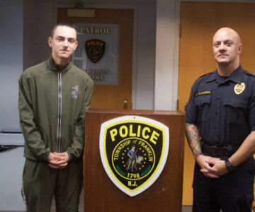Township Marine Recruit Looks To FTPD Sergeant As Mentor