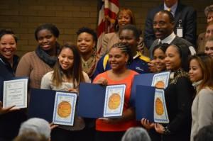 girls basketball team honored2