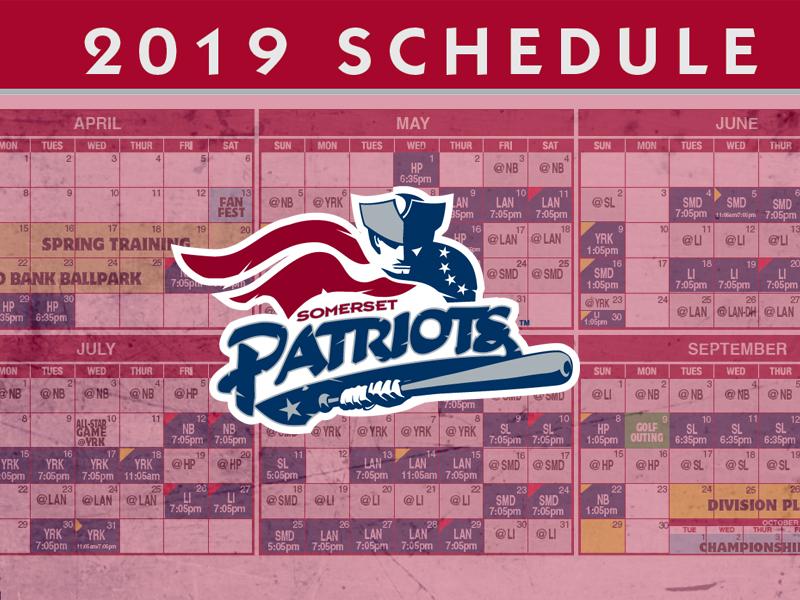 Patriots schedule 2019