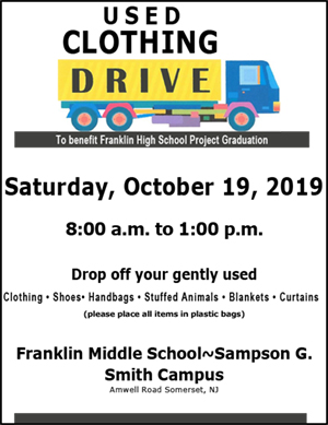 2019 Project Graduation Clothing Drive